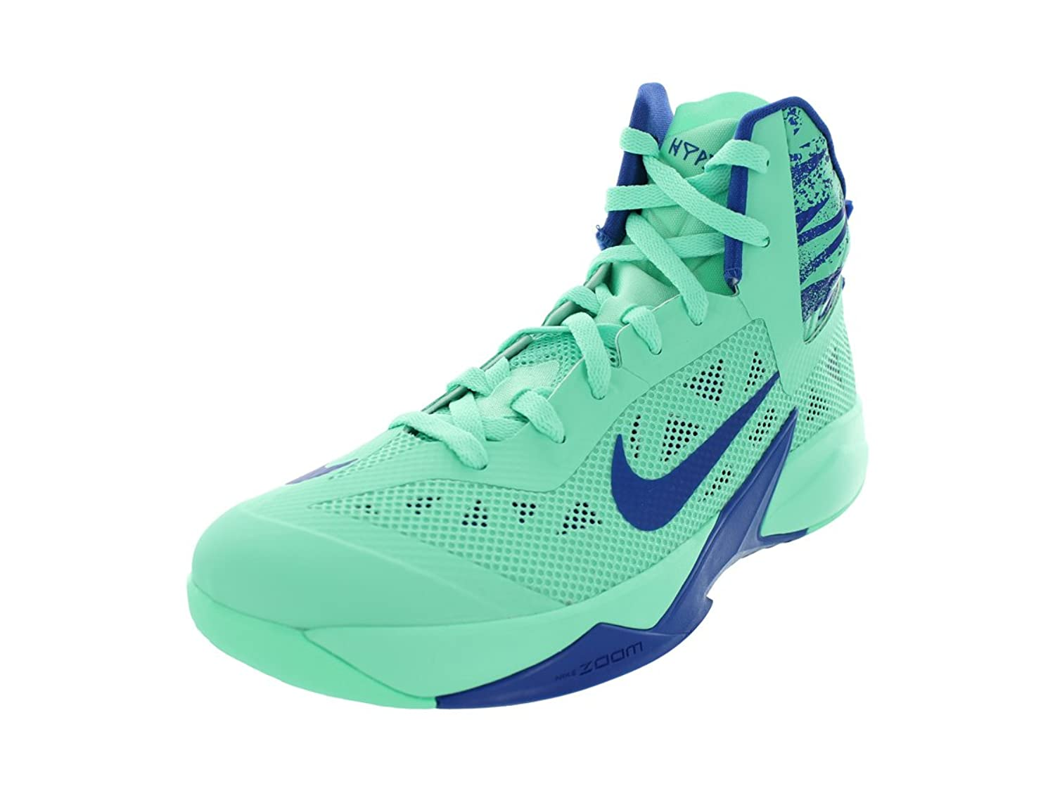 Amazon.com | Mens Nike Zoom Hyperfuse Basketball Shoe Green Glow/Game Royal  |
