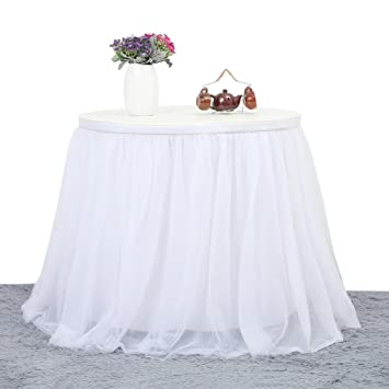 Faldones de mesa de malla para boda, mantel para boda, Navidad ...