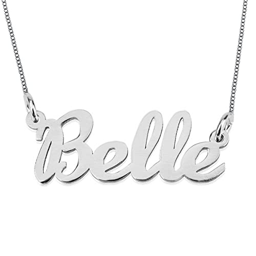 a8d0dc2b32744 HACOOL Personalized Names Necklace Sterling Silver Custom Made with Any  Names