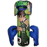 VE Presents Boxing/Punching Bag Set with Boxing Gloves & Head Protector for Kids 5-10 Years (Colors & Designs May Vary)