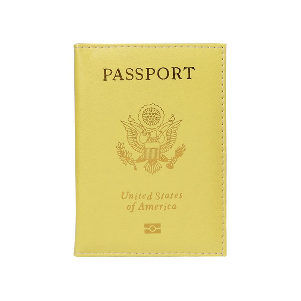Redriver Candy Color Passport holder,Identification Cases to Protect Card Case (Yellow)