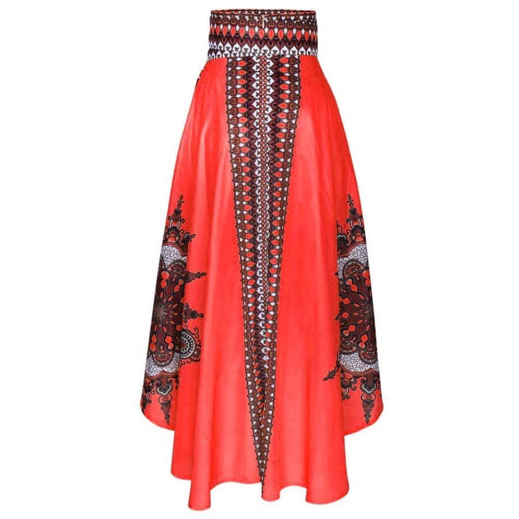 Vestido largo Boho de verano estampado de mujer africana Falda larga Beach Evening Party: Amazon.es: Ropa y accesorios