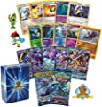 Pokemon GX Guaranteed with 2 Sun and Moon Series Booster Packs, 2 Holo Rares, 7 Reverse Foils, 10 Rare Cards and 20 Pokemon Cards! Bonus Pokemon Pin! Includes Golden Groundhog Deck Box!
