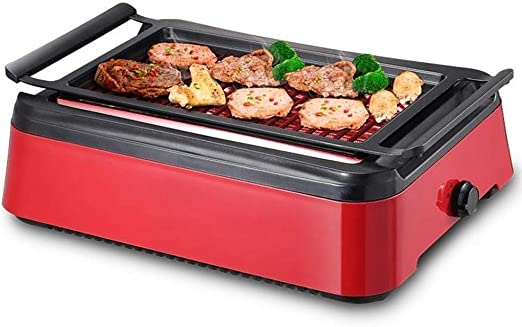 Indoor Grill Non Stick Lid Electric Smokeless Portable BBQ Kitchen Barbecue