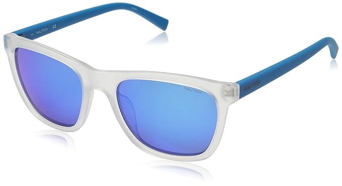 Nautica N3629Sp 939 56, Gafas de Sol para Hombre, Crystal/Matte Bluee
