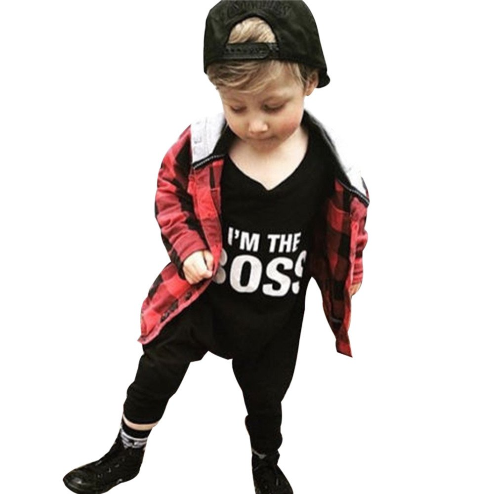 Infant Letter Jumpsuit - Romper Outfits Newborn Baby Boy Girl Clothes,2019 New Black