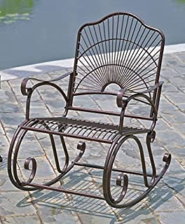 Amazoncom Mainstays Jefferson Wrought Iron Porch Rocking Chair