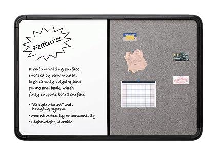 121,9 cm Combo Dry EraseFabric Board con Blow Mold Frame