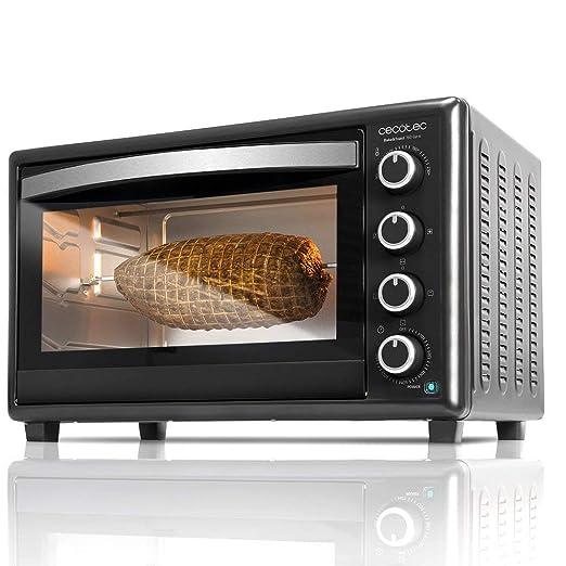 Cecotec Horno Conveccion Sobremesa Bake&Toast 750 Gyro. Capacidad de 46 litros, 2000 W, 12 Modos, Temperatura hasta 230ºC y Tiempo hasta 60 Minutos, ...