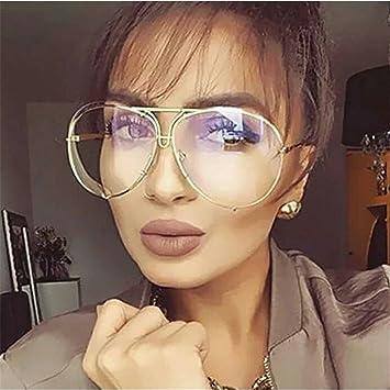 9a35b01e8 Franterd Vintage Mirrored Oversized Aviator Sunglasses for Women Men Black  Gold Reflective Lens Metal Frame Flat