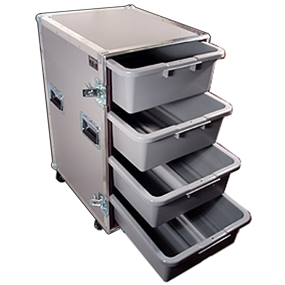 Drawer Workbox - 4 Large Tub - Drawer Heavy Duty 3/8 Ply ATA Case with Wheels by Roadie Products, Inc. (Image #3)