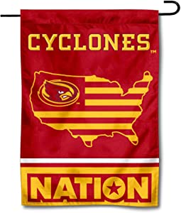 College Flags & Banners Co. Iowa State Cyclones Garden Flag with USA Stars and Stripes Nation