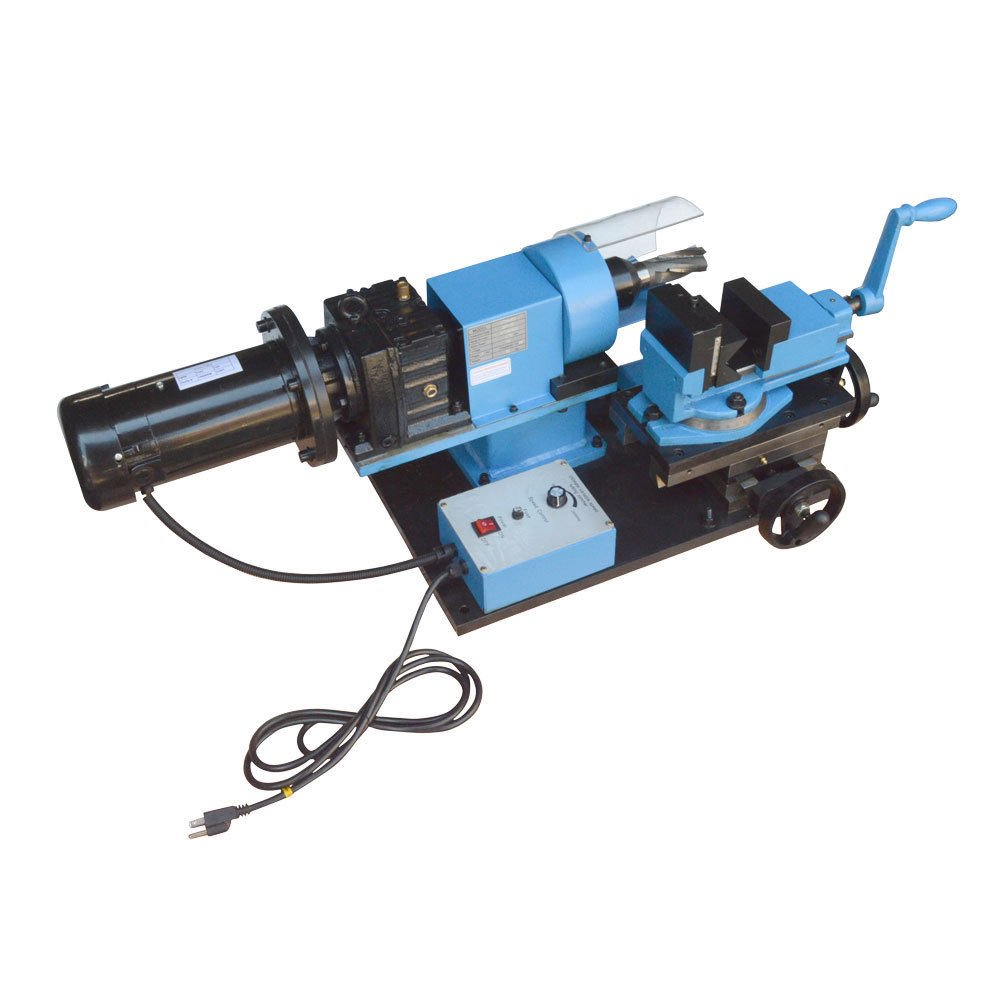 1 HP Electric Tube Pipe Notcher 1/2 to 2'' End Mill V-Block Rotary Vise 0-250 RPM - 110 Volt