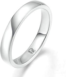 3.5MM Engagement Band, 18K White Gold(Au750) Real Diamond Wedding Rings for Men