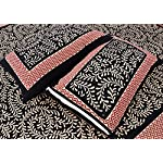 Lali Prints Traditional Jaipuri Block Print King Size 100% Cotton 1 Double Bedsheet with 2 Pillow Covers