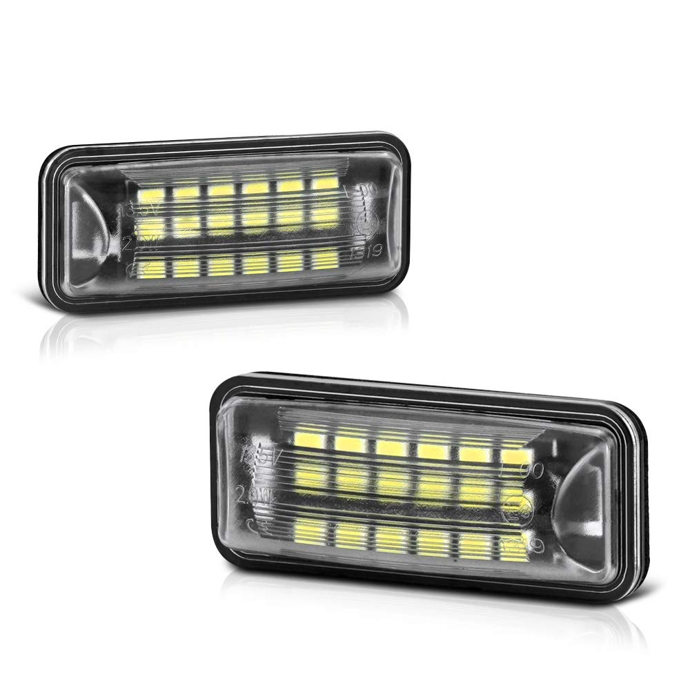 VIPMOTOZ Full LED License Plate Light Lamp Assembly Replacement For Subaru Impreza WRX STI XV Crosstrek BRZ Legacy Ascent Outback Forester Scion FR-S Toyota 86, 6000K Diamond White, 2-Pieces