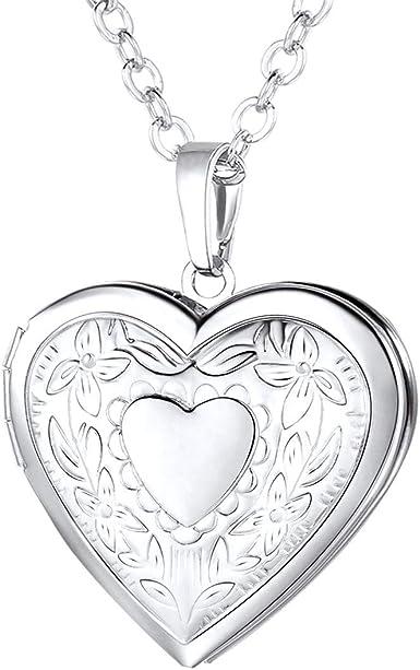 Love Heart Pendant Cross Necklace Chain Silver Jewelry Women Men Gifts Charm New