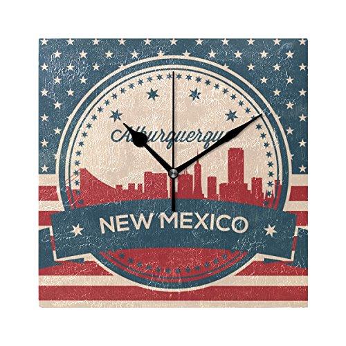 Franzibla Vintage American Flag New Mexico State Alburquerqu
