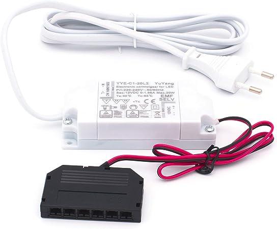 Yu Yang 40W 12v LED Trafo Driver flach 6fach LED Verteiler Konverter Netzteil