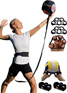 Regius Volleyball Training Equipment 3.0 - Premium Solo Trainer, Perfect for Beginners Practicing Serving, Setting and Spiking, Great Gift Idea - Gold