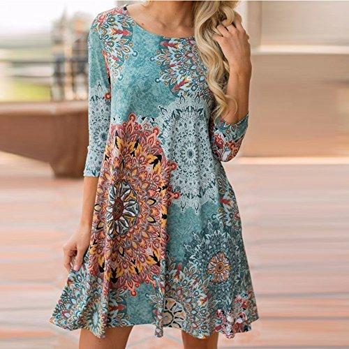 2018 Vtements Fte Maxi t Ancien Soire Robe Robe Floral Longue Chic Plage Femme Multicolore Manche Sunenjoy Bohme B7qdwXB