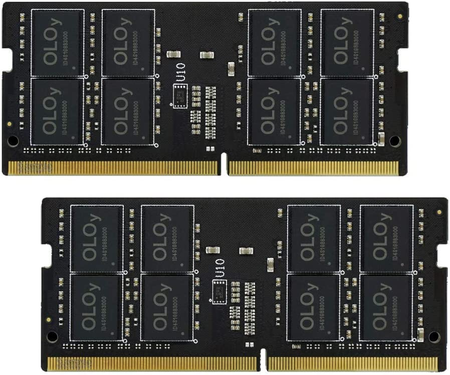 OLOy DDR4 RAM 32GB (2x16GB) 2666 MHz CL19 1.2V 260-Pin Laptop Gaming SODIMM (MD4S162619BZDC)#