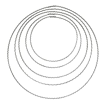 Rayher 2509100 Metallringe aus gewelltem Flachdraht, 18 cm à ...