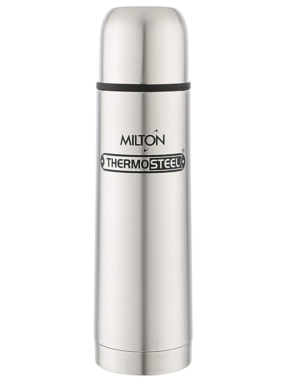 Milton Thermosteel Plain Lid Flask, 500ml,Plain Steel Color