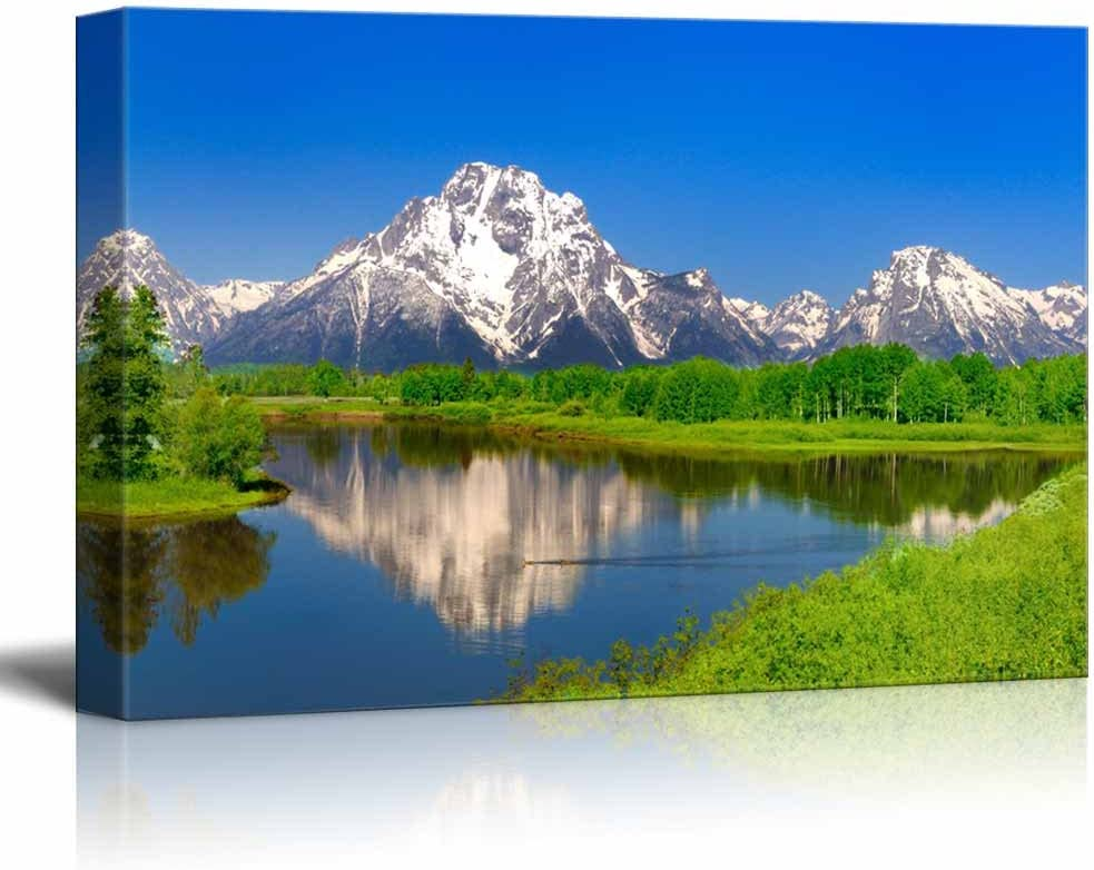 Alluring Craft, Beautiful Scenery Landscape Oxbow Bend at Grand Teton Home Deoration Wall Decor, Made With Love