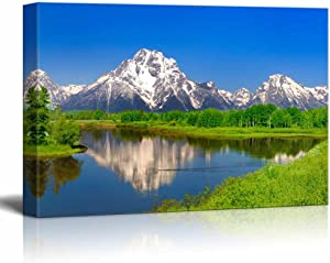 """Canvas Prints Wall Art - Beautiful Scenery/Landscape Oxbow Bend at Grand Teton 