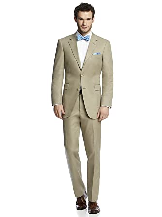 Men's Classic Khaki Cotton Summer Suit Jacket by After Six from ...