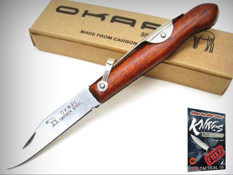 Amazon.com: OKAPI KO197930 - Cuchillo de bolsillo de acero ...