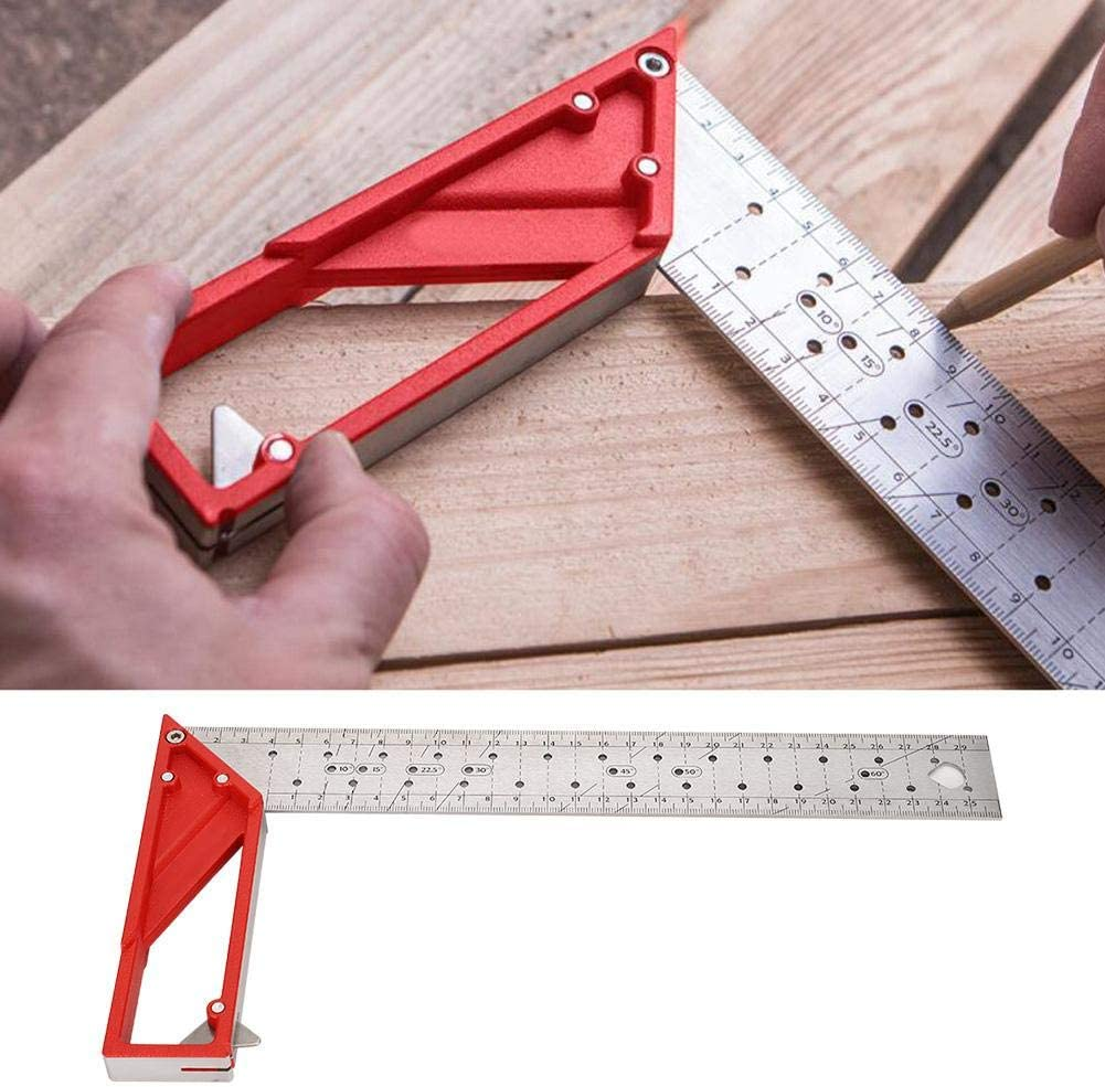 Jacksking 45/°//90/° 30cm Angle Ruler Woodworking Square for Multiple Purposes