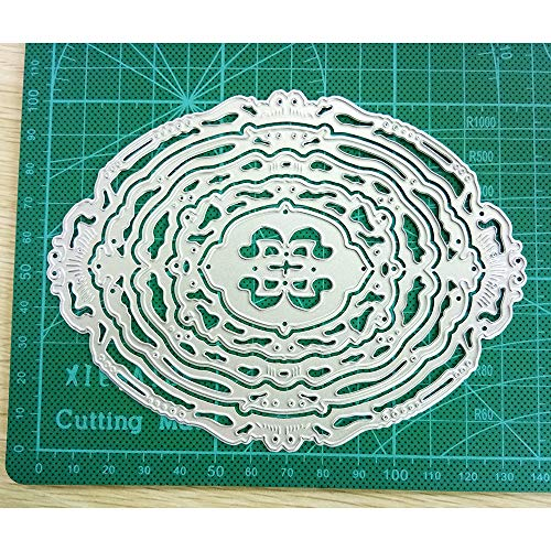 Fantastic Flowers Floral Frame Pattern Die Cut Metal Cutting Dies Stencils Scrapbooking Embossing Mould Templates Handicrafts DIY Card Making Paper Cards Album (C)