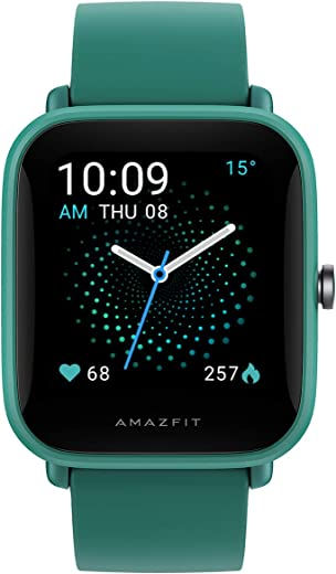"Amazfit Bip U Pro Smart Sports Watch with SpO2, Bulit-in Alexa and GPS, Electronic Compass, 60+ Sports Modes, 5 ATM, Fitness Tracker, HR,Sleep,Stress Monitor, 1.43"" Color Touch Screen (Green)"