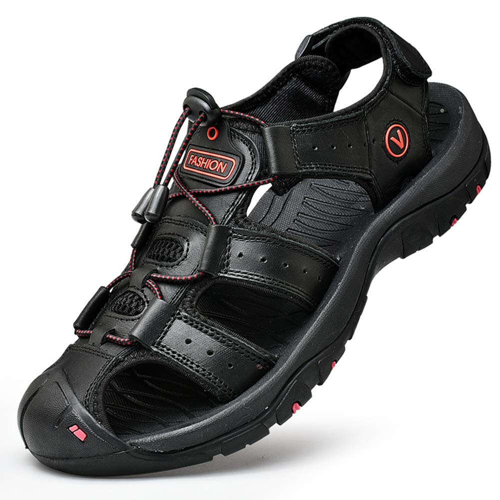 Z.SUO Mens Sports Sandals Trail Outdoor Water Shoes 3Layer Toecap