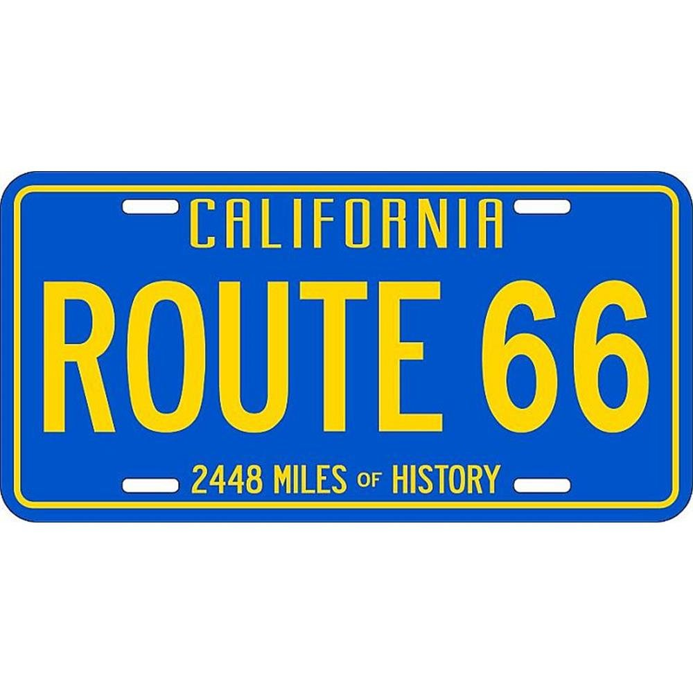 Signs 4 Fun Slrca 66 CA Blue and Yellow License Plate