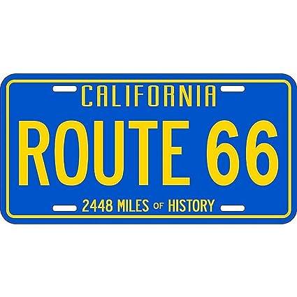California License Plate History >> Amazon Com Signs 4 Fun Slrca 66 Ca Blue And Yellow License