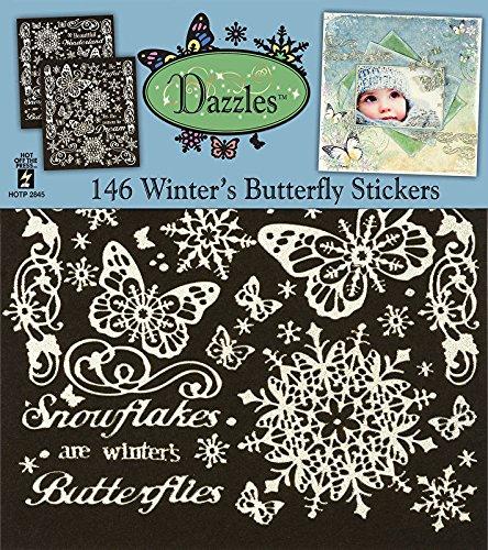 HOTP Dazzles Winter's Butterflies Scrapbooking Stickers - Hotp Scrapbooking
