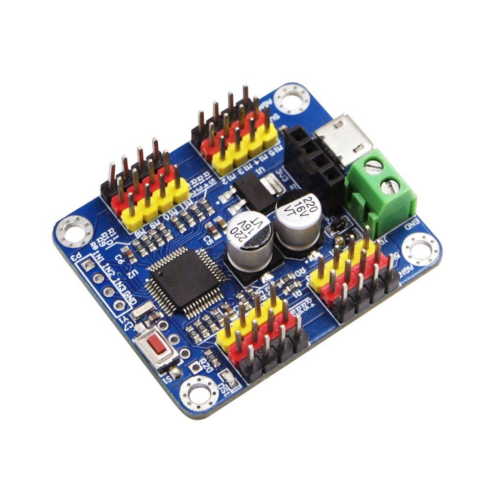 16 Channel PWM Servo Motor Driver Controller Board Module Bluetooth PCB steering gear for SG90 MG995 Arduino Robot Raspberry Pi DIY Servo Shield Module