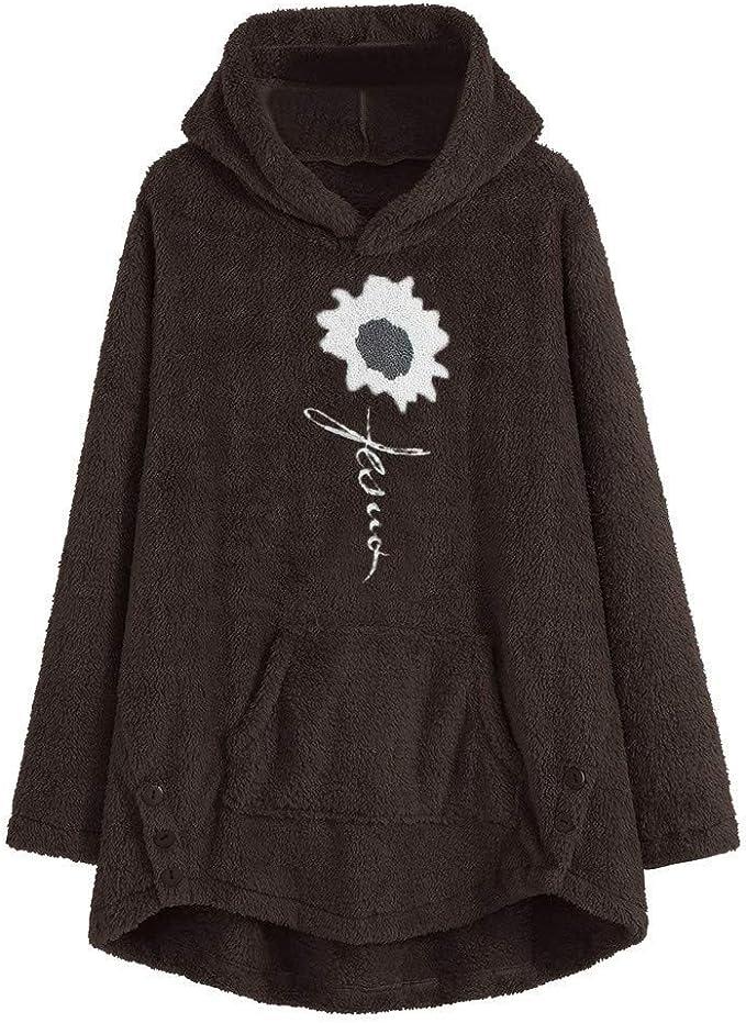 Amazon.com: Xinantime Womens Warm Coat Fleece Asymmetrical ...