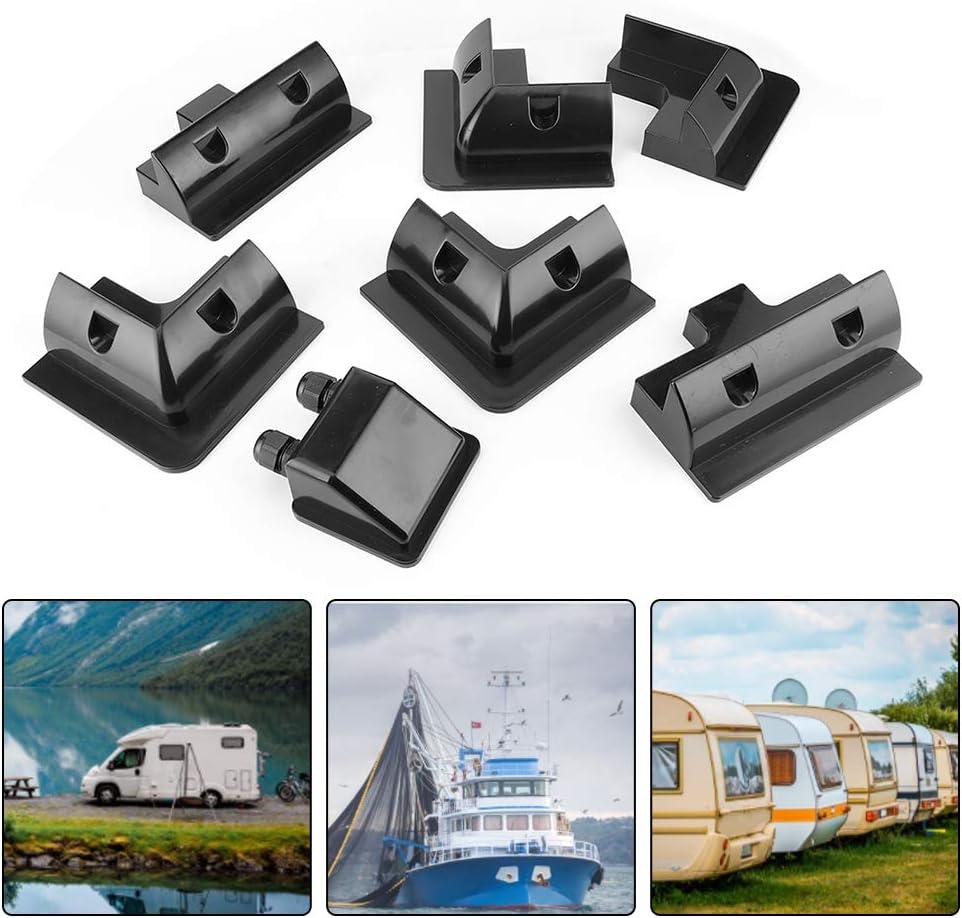 7-teilig//Set Solarpanel-Eckmontagehalterungen Kit f/ür Wohnwagenboot RV-Fahrzeugdach Schwarz Solarpanel Halterung Schwarz Niunion Solarpanel-Halterung