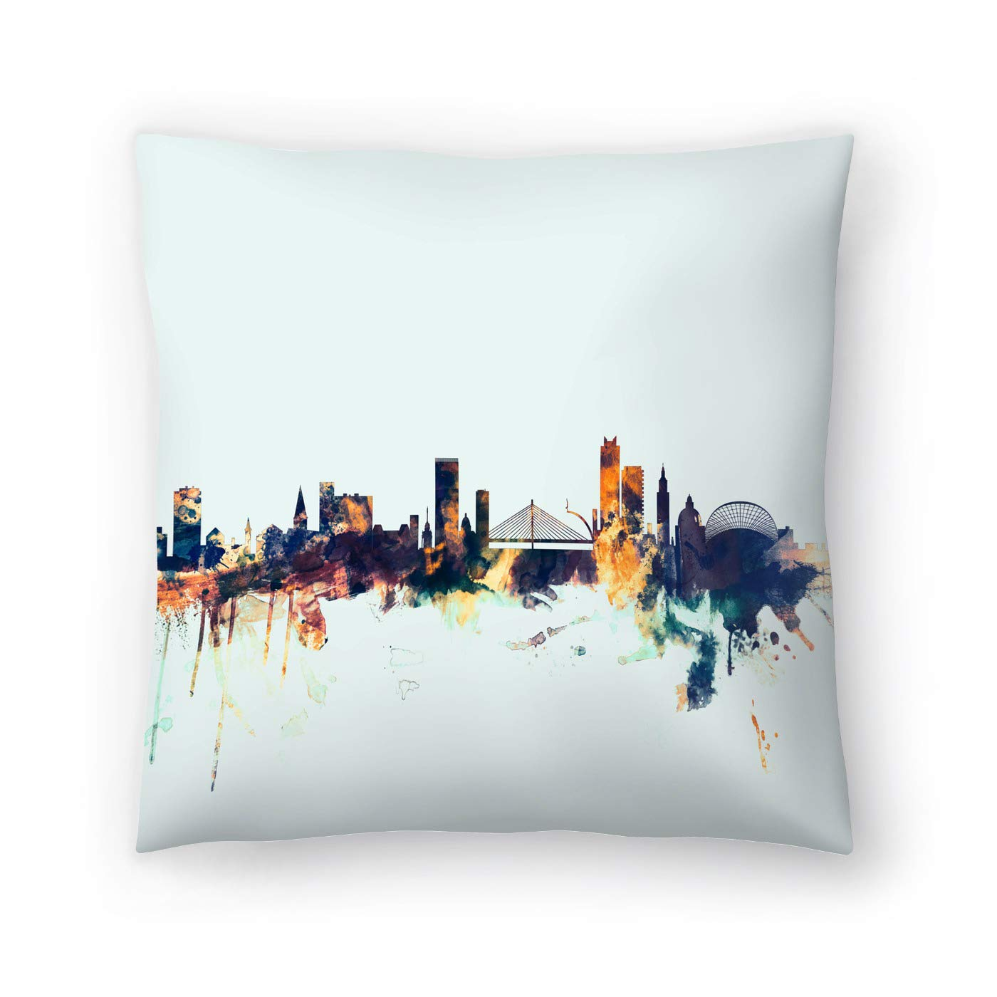 Buy American Flat Liege Belgium Skyline New 1 Art Pause Pillow By Michael Tompsett 20 X 20 Online At Low Prices In India Amazon In