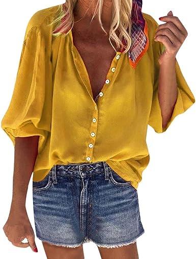 Mujer Camiseta Mangas Largas Levifun Las Mujeres Ocasionales ...