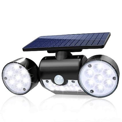 Amazon.com: Luz solar para exteriores con sensor de ...