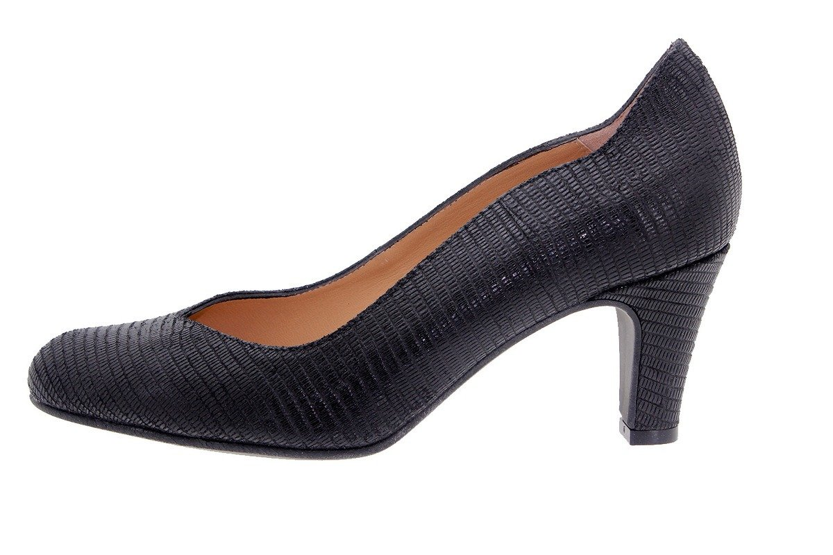 PieSanto Women's 7202 Black Leather Comfort Pump Extra Depth 37 W EU (6.5 - 7 C/D US Women)