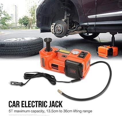 Zoternen 12V 5T Gato Hidráulico Coche 13.5cm-36cm lámpara LED Kit de Gato Eléctrico Auto con Estuche de Plástico: Amazon.es: Coche y moto