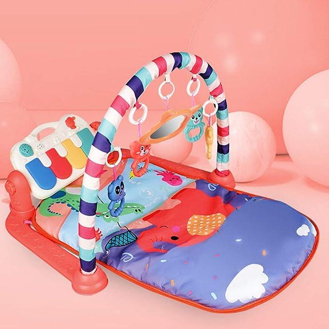76 x 60 x 45cm Yavso Gimnasio Piano Pataditas 3 en 1 Gimnasio Infantil Bebe con M/úsica y Luces Manta de Juego para Beb/é