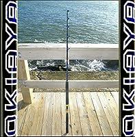 """Okiaya Composit 50-80lb """"blueline Series"""" Saltwater Big Game Roller Rod"""
