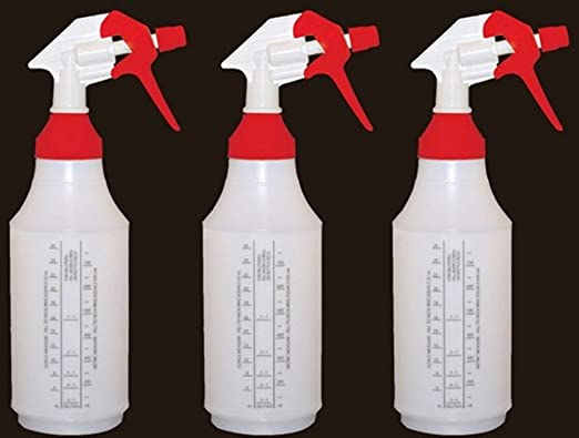 1 Complete Bottle with Scale on Side of Bottle for Easy Filling 32oz Yellow Sprayer Top Part# WM83233-WM01-Y Reusable Spray Bottle with Large Top for Easy Filling